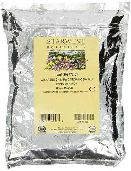 Organic Jalapeno Pepper by Starwest Botanicals, Powdered