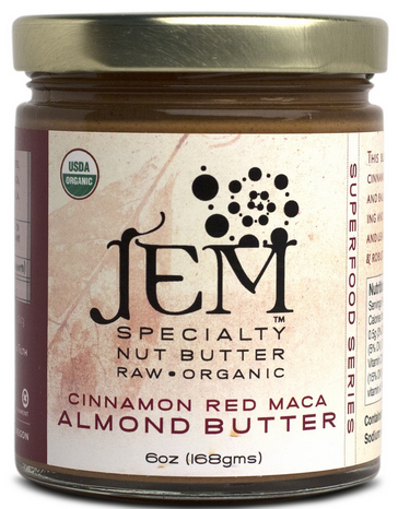 Red Maca Cinnamon Organic Almond Butter by JEM