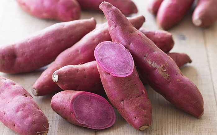 Weird vegetable Purple sweet potato