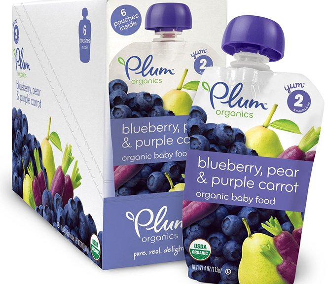Organic Baby Pouches With Blueberry