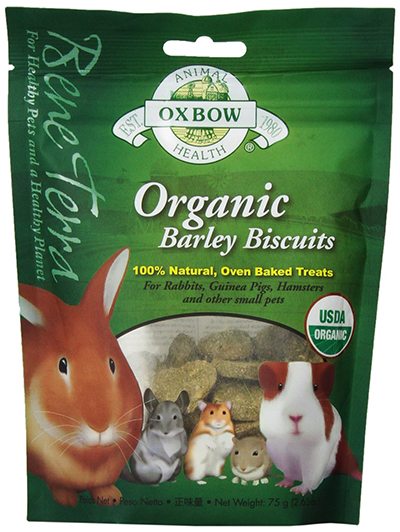 Organic Barley Biscuits for Rabbits, Guinea Pigs, Chinchillas, by Oxbow Animal Health