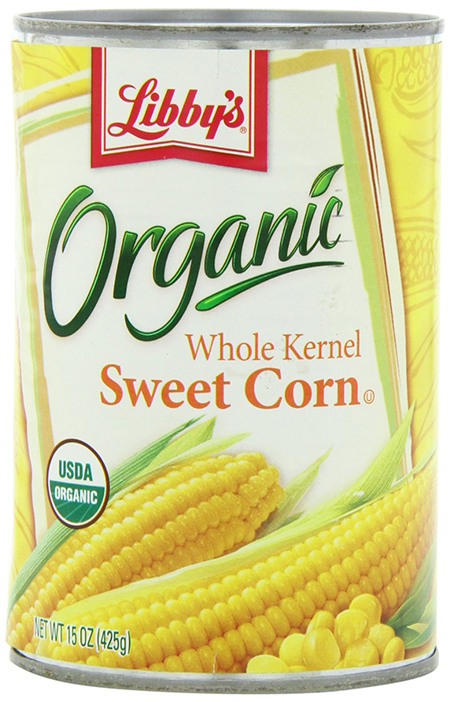 Organic Sweet Corn by Libby's, Whole Kernel, Canned