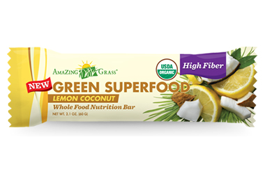 Organic Lemon and Coconut Energy Bar, by Amazing Grass