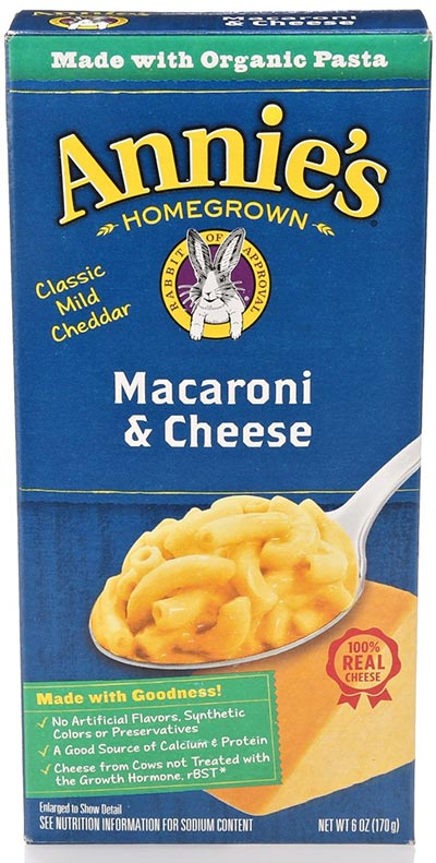 Organic Macaroni with Cheese by Annie's Homegrown