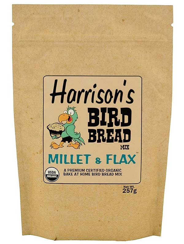 Organic Bird Food by Harrison's Bird Foods, Millet & Flax