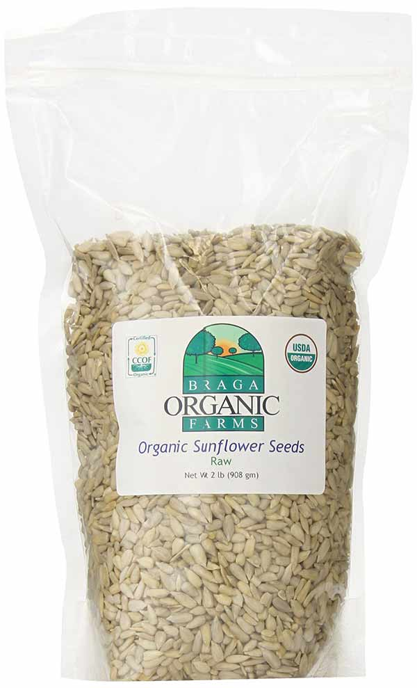 Raw Organic Sunflower Seeds by Braga Organic Farms