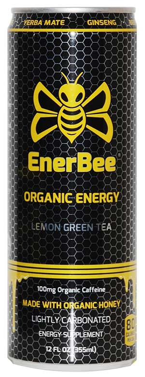 Organic Lemon Green Tea Energy Drink by Enerbee