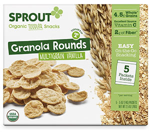 Organic Multigrain Granola Toddler Snack by Sprout, Vanilla