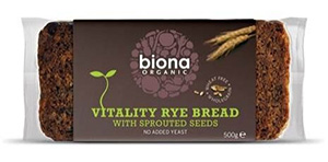 Organic Rye Bread with Sprouted Seeds by Biona