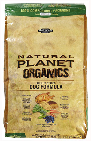 Premium Dog Food with Chicken, Grains and Vegetables by Natural Planet Organics