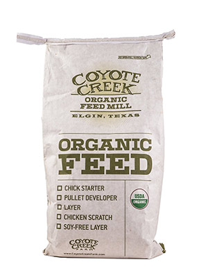 Organic Rabbit Pellets by Coyote Creek Organic Feed Mill