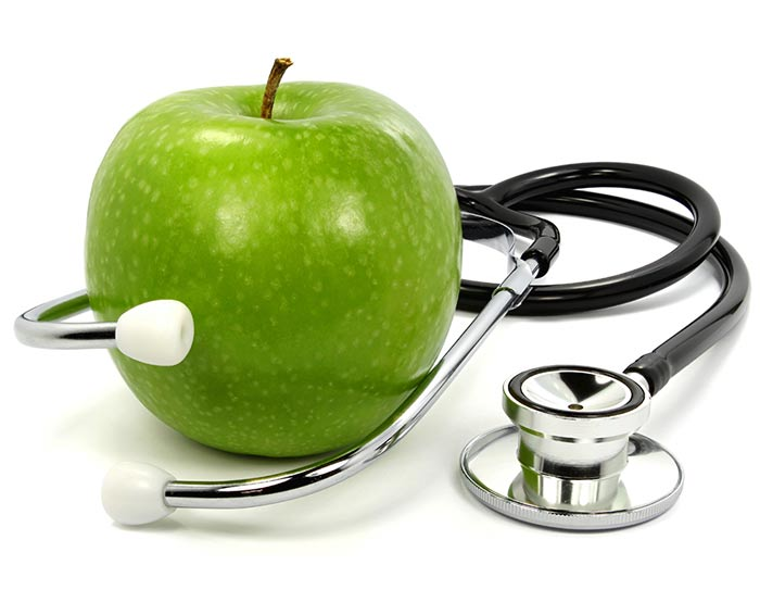 An apple a day keeps the doc away1