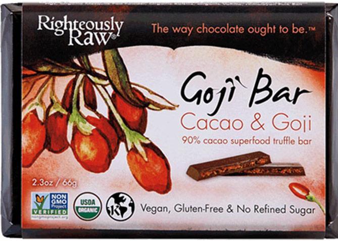 Goji berry cacao truffle bars1
