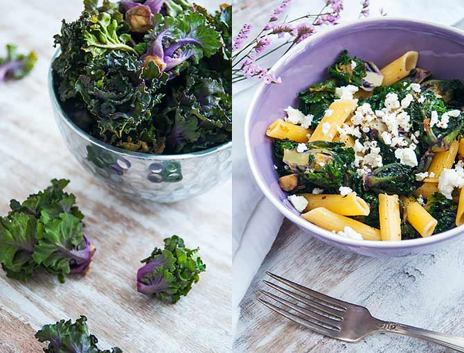 Pasta With Kalettes And Feta1