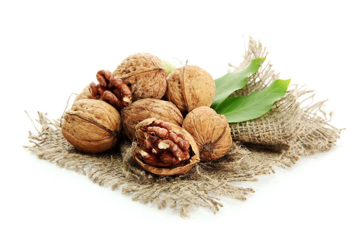 Organic Walnuts on A Piece Of Hemp Cloth1