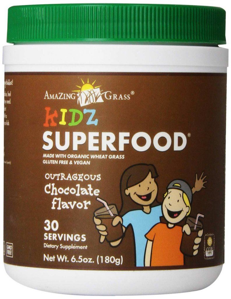 Non-GMO Chocolate Flavored Kidz Superfood