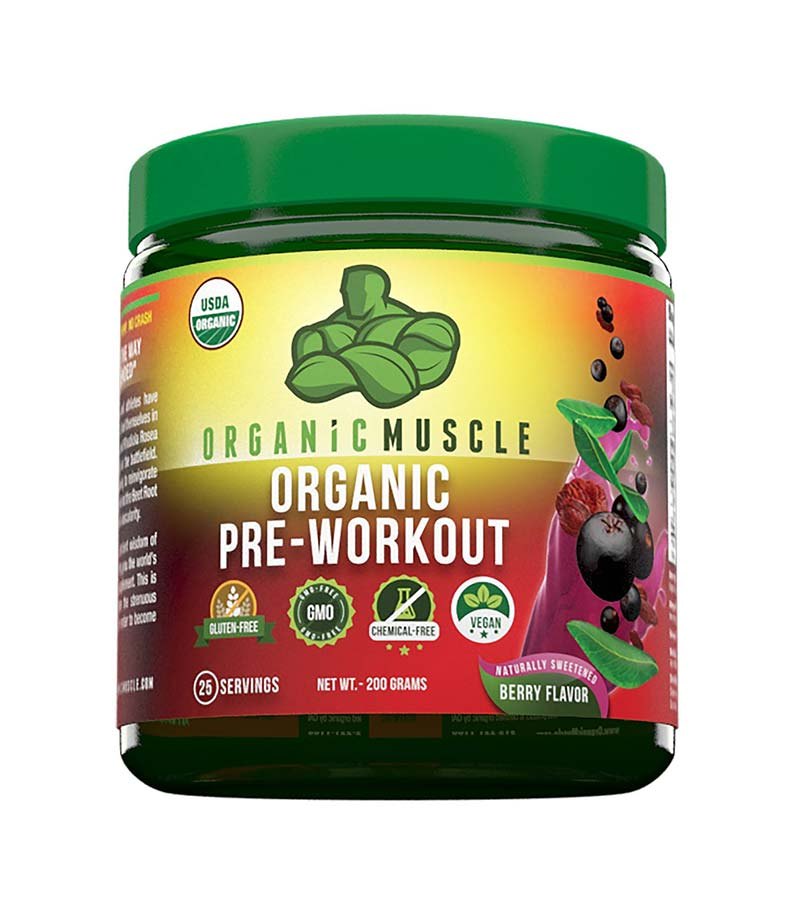 Organic Pre-Workout Energy Supplement