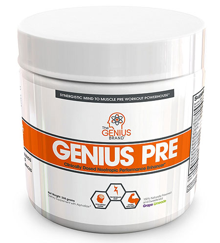 All Natural Nootropic Pre Workout Supplement by the Genius Brand