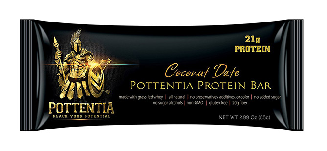 Grass Fed Whey Protein Bar by Pottentia