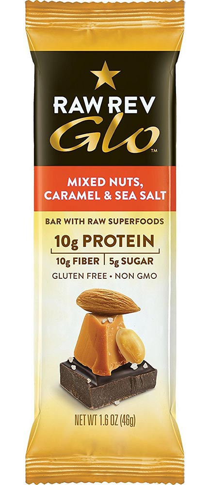 Nuts Caramel And Sea Salt Protein Bar by Raw Rev