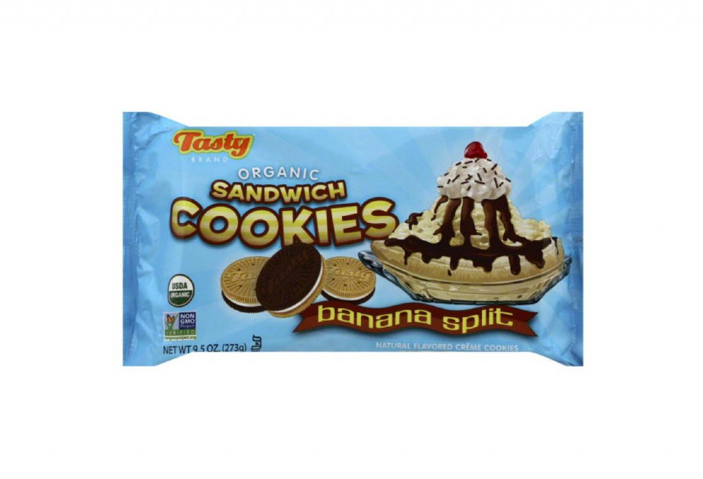 Organic Banana Split Sandwich Cookies by Tasty Brand