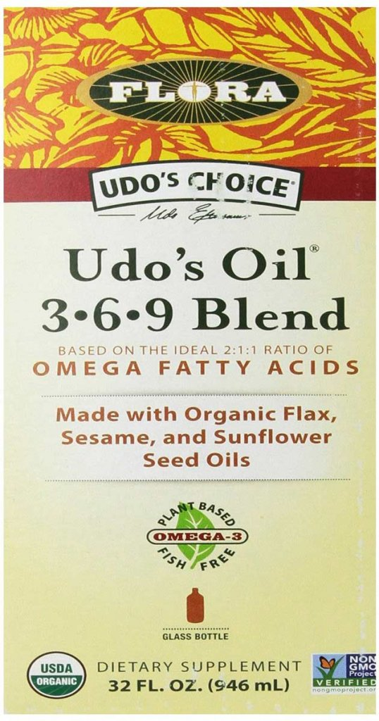 Organic Omega 3-6-9 Oil Blend by Udo's Choice