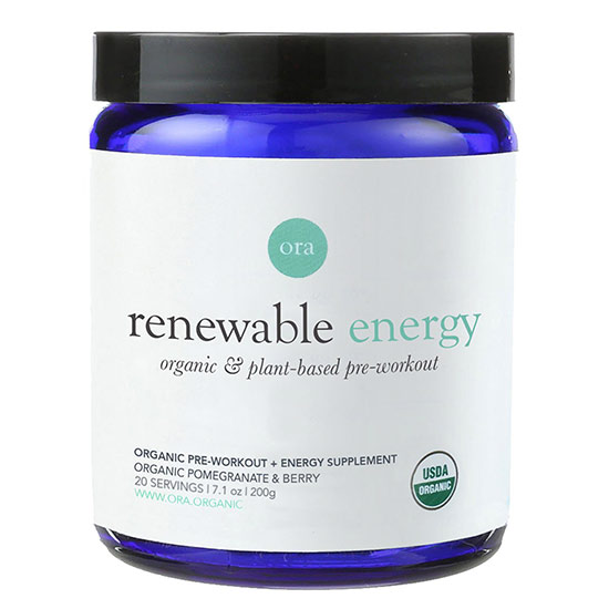 Renewable Energy Vegan Pre Workout by Ora Organic