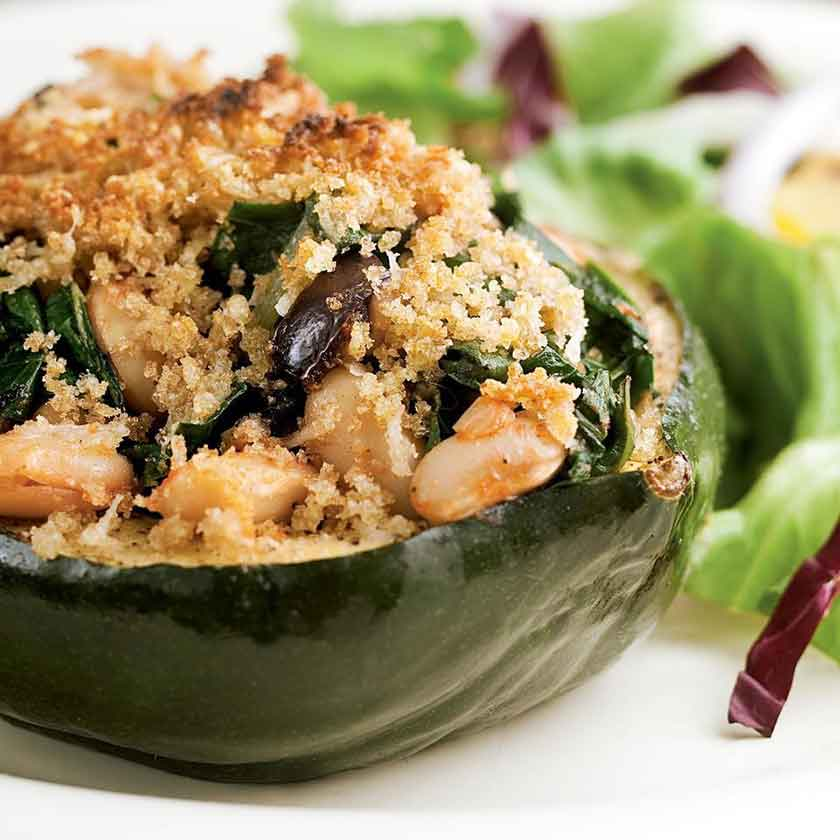 acorn-squash-stuffed-with-chard-white-beans