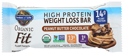 Garden of Life weight loss organic protein bars