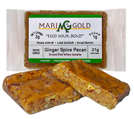 MariGold Bars – Grass-Fed Whey Low Carb Protein Bar