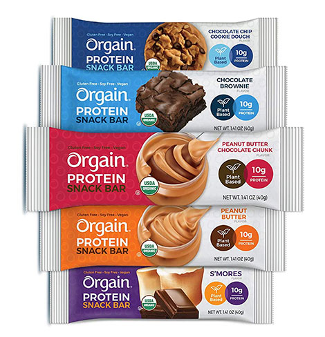 Orgain protein bar with natural-only ingredients