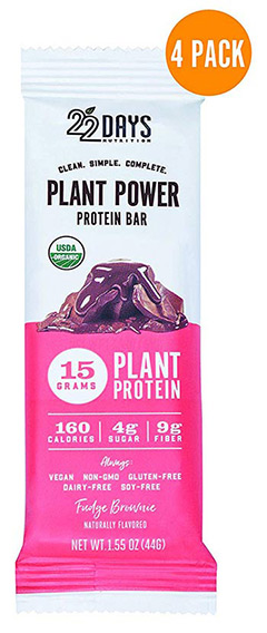 organic brownie protein bar by 22 Days Nutrition