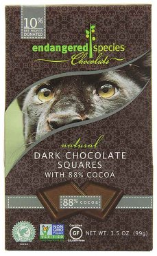 GMO-Free Dark Chocolate Squares by Endangered Species