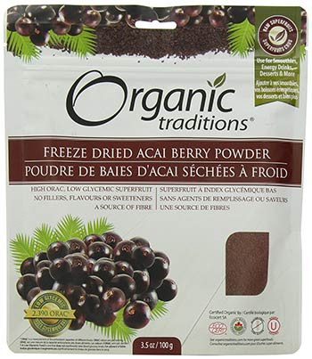 Freeze Dried Acai Berry Powder by Organic Traditions
