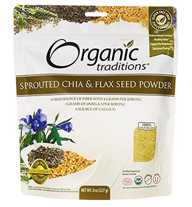 Organic Chia and Flax Powder By Organic Traditions
