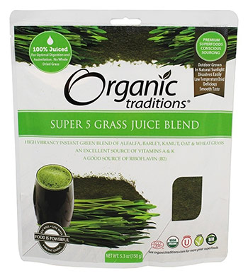 Organic Grass Juice Blend Powder by Organic Traditions