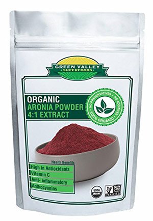 Organic Aronia Powder by Green Valley Superfoods