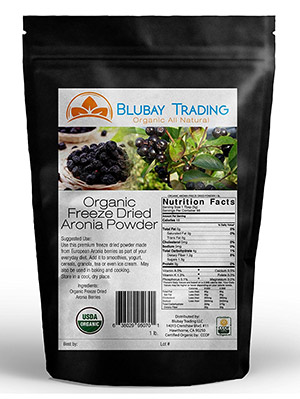 Organic Freeze-Dried Aronia Berry Supplement by Go Nutra