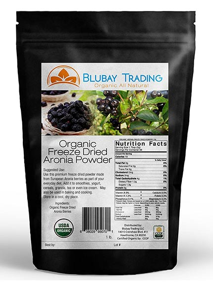 European Organic Chokeberry Powder by Go Nutra