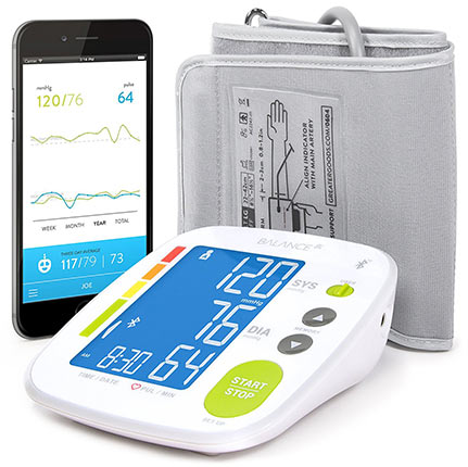 Upper arm blood pressure monitor cuff kit by Greater Goods