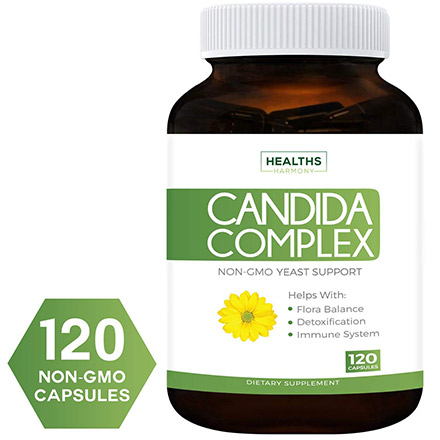 Non-GMO Candida Cleanse Complex by Healths Harmony