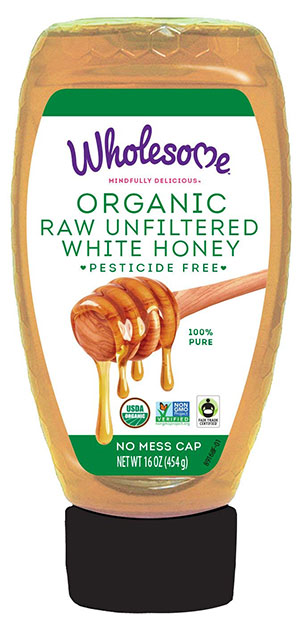 Wholesome Sweeteners Organic Unfiltered White Honey