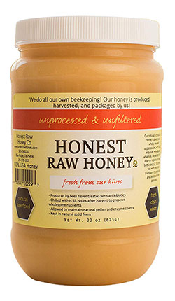 Natural American Honey by Honest Raw Honey