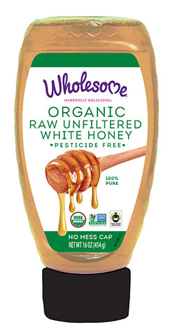 Organic Raw Unfiltered White Honey by Wholesome Sweeteners