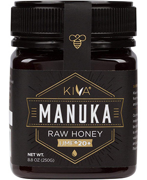 Certified UMF 20+ RAW Manuka Honey by Kiva