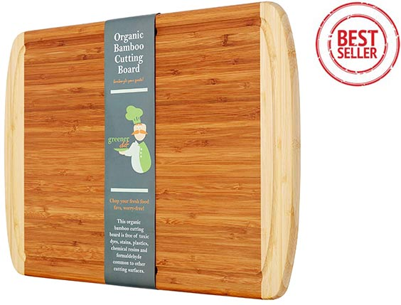 Greener Chef - Extra large Organic Bamboo Cutting Board