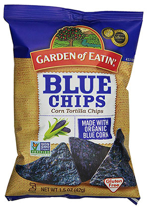 GMO-Free Blue Corn Chips by Garden of Eatin'