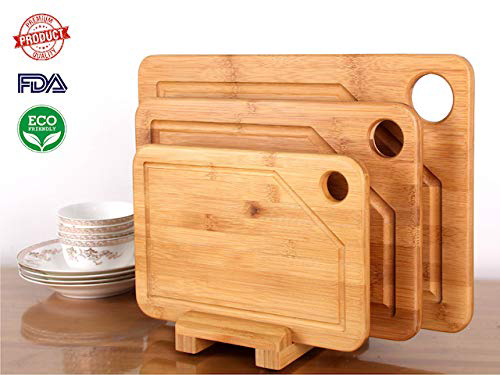 MOHY - premium 3 piece bamboo cutting board set