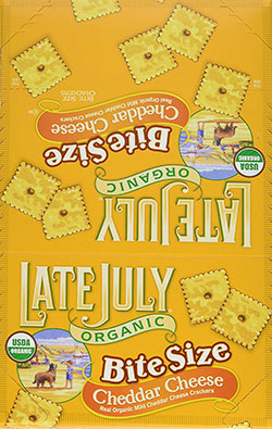 Organic Bite Size Mild Cheddar Snack by Late July