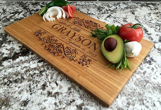 Qualtry - Laser engraved Personalized Cutting board